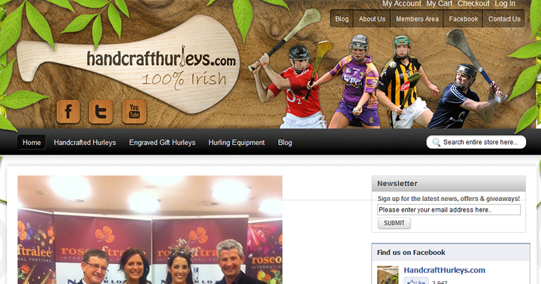 Handcraft Hurleys by ecommerce specialist Webspring Design